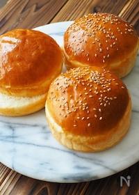 『牛乳パックの型で、ふんわり手作りハンバーガーバンズ』