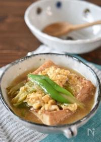 『厚揚げ豆腐と長ネギの簡単卵とじ【アレンジ】』