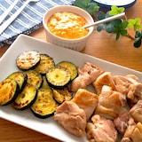 ご飯でもパンでも合う♡チキンとお野菜のコチュマヨタルタルがけ