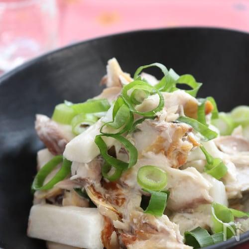 【サク飯】しめ鯖と山芋の和え物
