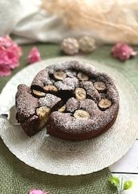 『大さじ1の粉で作るスフレみたいなチョコバナナケーキ』