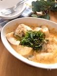 レンチンで簡単♡たらと長芋のトロリ味噌マヨチーズ