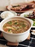 寒い夜は最後まで熱々♡土鍋で白菜と豆腐のとろみスープ♡