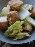 ちょい干し白菜と厚揚げの回鍋肉風