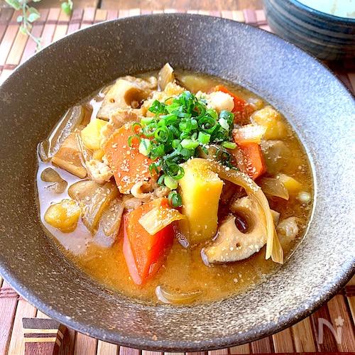 濃厚味噌ラーメン風♡〝野菜ごろごろ豚汁〟時短ずぼらレシピ