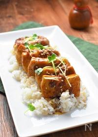 『肉巻き豆腐丼』