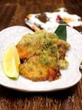 鰤の磯辺天ぷら・レモン風味。