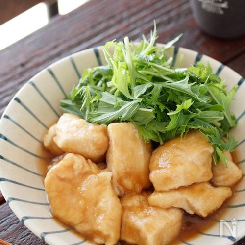 むね肉のさっぱりポン酢煮【#作り置き#ヘルシー#調味料2つ】