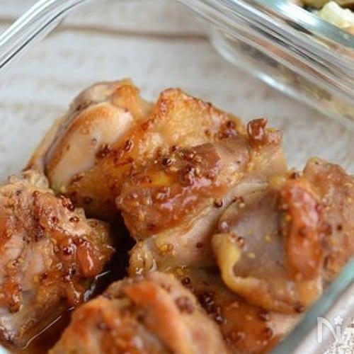 鶏もも肉のマスタード焼き【作りおき】