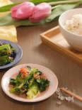 あと一品に♪小松菜とさくらえびのごま風味和え