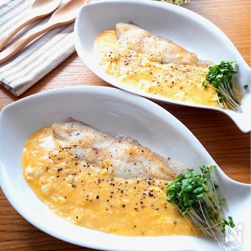 魚嫌いのお子様にも超お勧め激旨♡白身魚のとろとろ卵あんかけ