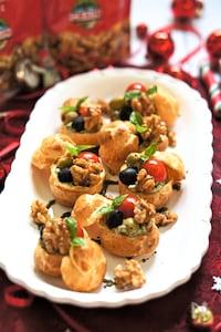 アンチョビ胡桃のジェノべーゼ豆腐クリームチーズクリスマス前菜