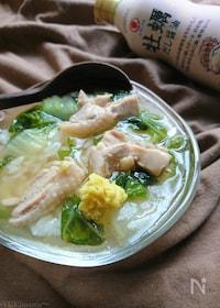 『鶏と白菜の牡蠣だし醤油ほっこりあんかけ〜ご飯でもうどんでも♪』