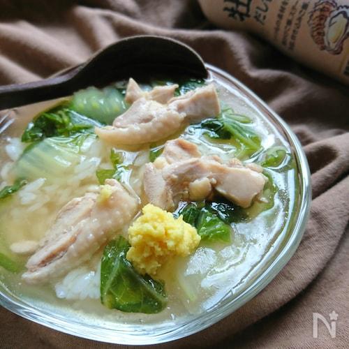 鶏と白菜の牡蠣だし醤油ほっこりあんかけ〜ご飯でもうどんでも♪