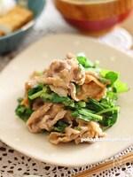 大根葉と豚肉の味噌マヨ炒め