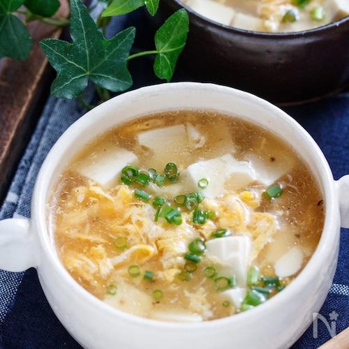 ふわふわ豆腐の中華風♡生姜あんかけスープ【#とろみづけ不要】