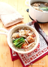 『あらびき肉団子と韓国春雨の「食べるスープ」』