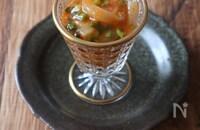 イカの塩辛で韓国風おつまみ