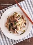 電子レンジで簡単*豚バラと野菜の味噌炒め風レンジ蒸し♡