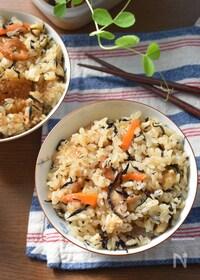 『【リメイク】抱えて食べたい♡ひじきの煮物de梅炊き込みご飯♡』
