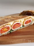 トマトの肉巻きと卵サラダのホットサンド☆BRUNO・お弁当