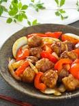 少ないお肉でボリュームおかず☆豚こま肉の黒酢酢豚