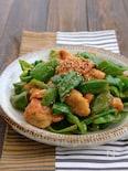 鶏肉とたっぷりピーマンのコク旨味噌マヨ炒め