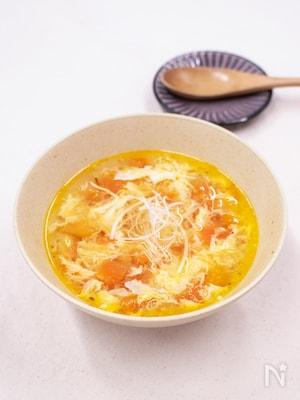 簡単!トマト卵スープ!