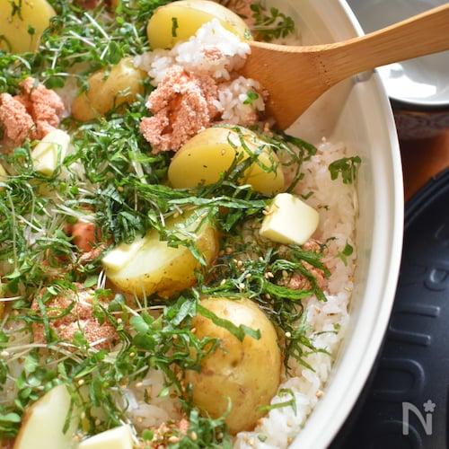 <BRUNO>旨味たっぷり♡じゃが芋と明太子の炊き込みご飯♡
