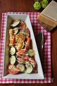 パルミジャーノと夏野菜の簡単グリル