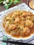ボリューム満点♡ゴロっと鶏団子とトロトロ白菜の麻婆春雨