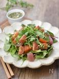 パクチードレッシングの海鮮サラダ