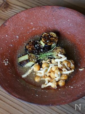 茄子と胡麻のお味噌汁