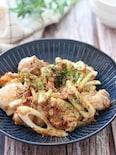 風味良い和風味♡鶏肉とちくわのおかかマヨ醤油炒め