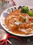 おうちdeイタリアン食堂*鶏肉とかぼちゃのトマトクリーム煮*