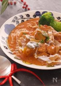 『おうちdeイタリアン食堂*鶏肉とかぼちゃのトマトクリーム煮*』