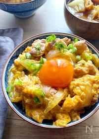 『麺つゆで簡単!親子丼』