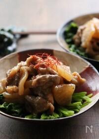 『豚こま大根【#こくうま#お弁当のおかず#ご飯がすすむ】』