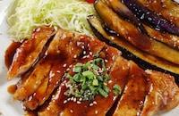 【あじ染みナスが最高】ご飯が進む豚ロースの黒酢照り焼き
