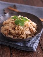 しみじみ美味しい~!鶏ひき肉とごぼうの炊きこみご飯