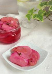『キレイなピンク色!紅芯大根のピクルス』