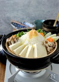 『豆腐と豚しゃぶと大根のあっさりみぞれ鍋』