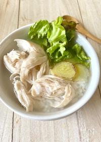 『フォー風【鶏だしスープごはん】#ささみ#調味料は塩だけ』