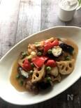 鶏肉と彩り野菜のバルサミコ黒酢あんかけ
