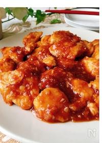 『ハチミツが決め手♡鶏ささみのチリソース煮』