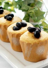 『混ぜるだけの簡単黒糖黒豆蒸しケーキ』