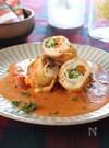 鶏ささみのインボルティーニ(包み焼き)