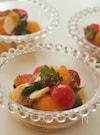トマトとモッツアレラ、紫蘇の和風ジュレサラダ