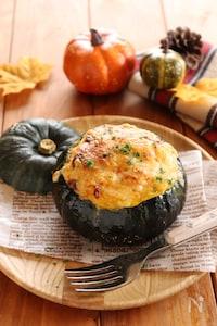 丸ごとかぼちゃのチキングラタン