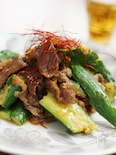 牛肉とたたききゅうりの中華炒め